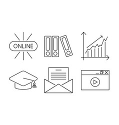 business webinar and online vector image vector image
