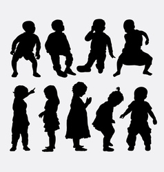 Children activity silhouettes vector image vector image