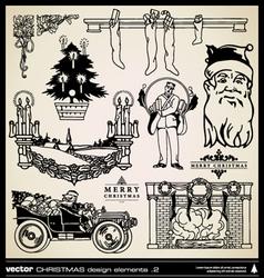 Christmas decorative design elements vector image vector image