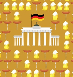 German seamless ornament Symbols of Germany beer vector image vector image