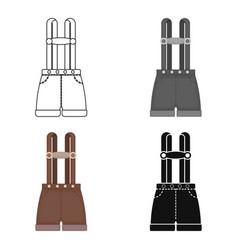 lederhosen icon in cartoon style isolated on white vector image vector image