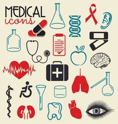 MEDICAL elements resize vector image