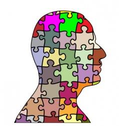 puzzle man vector image vector image