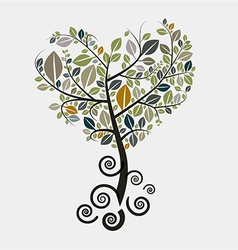 Tree Symbol with Curled Roots vector image vector image