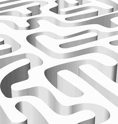 White smooth maze vector image