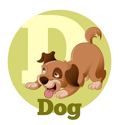 ABC Cartoon Dog4 vector image