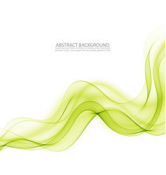 abstract background green waved lines vector image