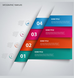 abstract info graphic with colored folded vector image