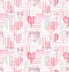 Abstract seamless pattern with color hearts vector image