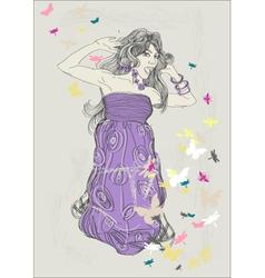 artist sketch vector image vector image