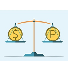 Balance dollar and ruble vector