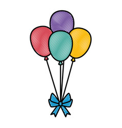 balloons air party decoration vector image