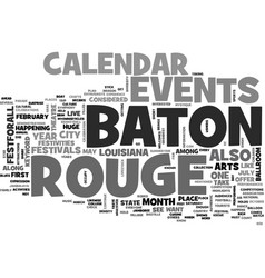 baton rouge calendar of events text word cloud vector image