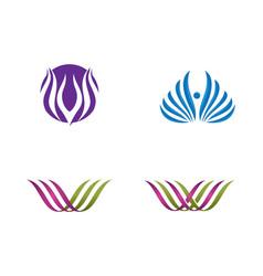 beauty flowers design logo vector image