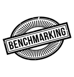 Benchmarking rubber stamp vector image