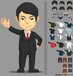 Businessman Customizable Character vector image vector image