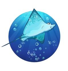Cartoon drawing of a fish ramp vector