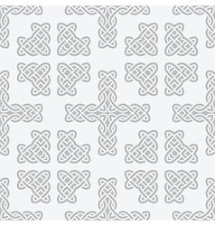 Celtic knot cross seamless vector