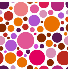 chaotic pattern round colorful graphic dots or vector image