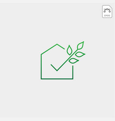 Check approval agriculture eco nature logo icon vector