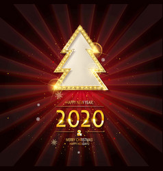 christmas and happy new year 2020 vector image