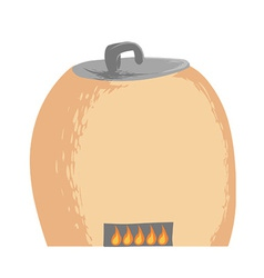 Clay oven vector