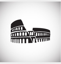 colloseum on white background vector image