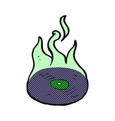 Comic cartoon magic vinyl record vector