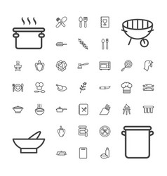 Cooking icons vector
