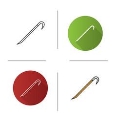 Crowbar icon vector
