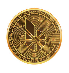 crypto currency bitshares golden symbol vector image
