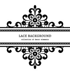Decorative lace frame vector