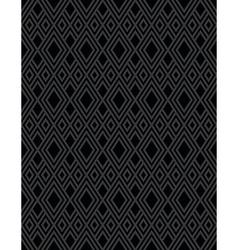 Diamond pattern black vector image