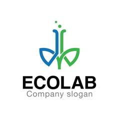 Eco Lab Design vector image