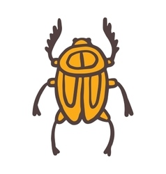 Egypt scarab beetle vector