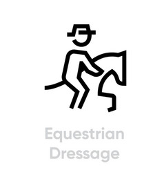 equestrian dressage icons vector image