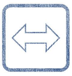 Exchange horizontal fabric textured icon vector