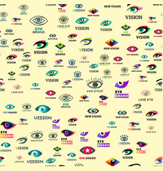 Eye blinker seamless pattern vision daylight vector