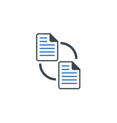 File exchange related glyph icon vector