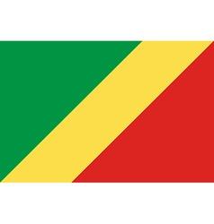 Flag of Republic of Congo vector image