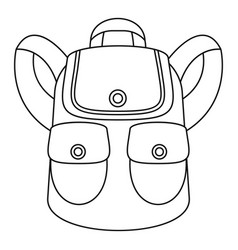 forest backpack icon outline style vector image