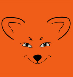 fox red head animal sly eyes vector image