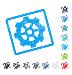 Gear icon rubber watermark vector