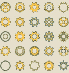Gear wheel retro collection vector image
