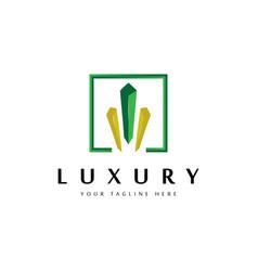 gem stone elegant luxury logo design vector image