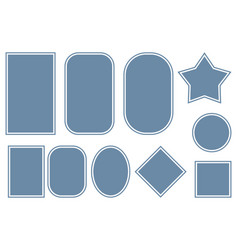 geometric label outline set vector image
