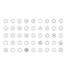 hexagon logo template honeycomb icon creative vector image