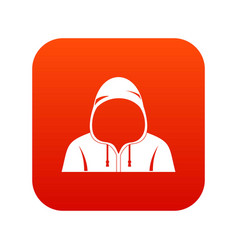 hood icon digital red vector image