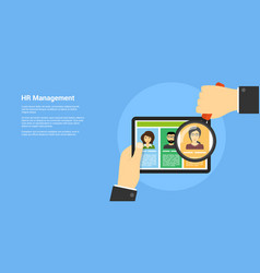 human resource management concept vector image