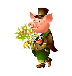 icon pig vector image